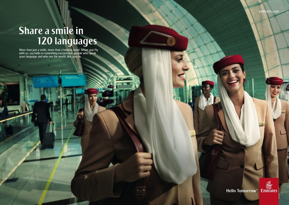 Emirates Share a Smile in English